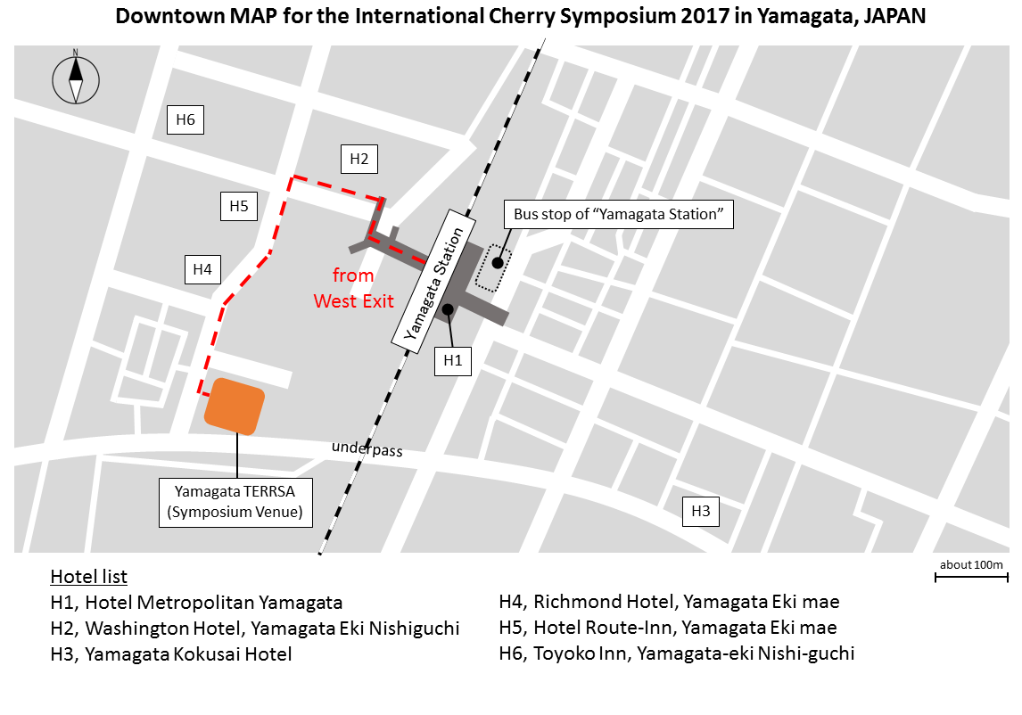 Venue Travel Th International Cherry Symposium - Japan map yamagata
